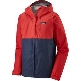 Patagonia Torrentshell 3L jakke Herrer, rød/blå